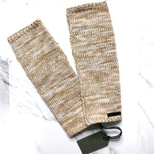 All Saints Marled Knit Almond Brown Armwarmer NEW